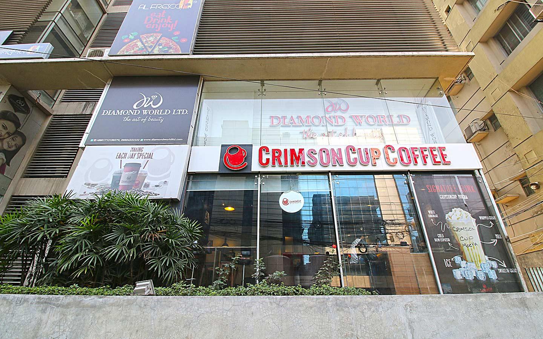 Crimson cup Coffee and Community at Dhanmondi neighborhood in Dhaka