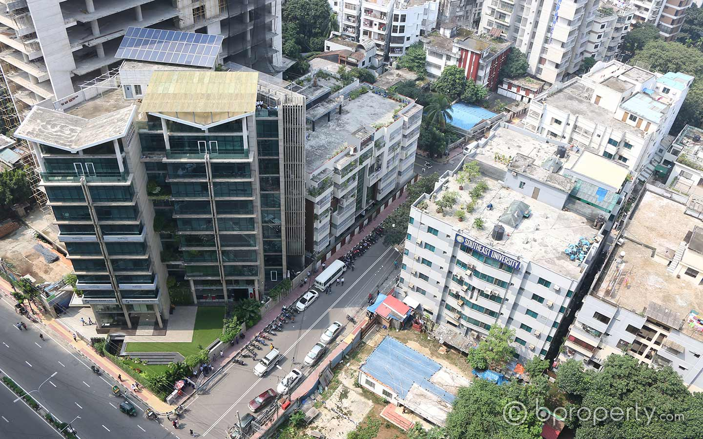 A cityscape view of Gulshan in Dhaka