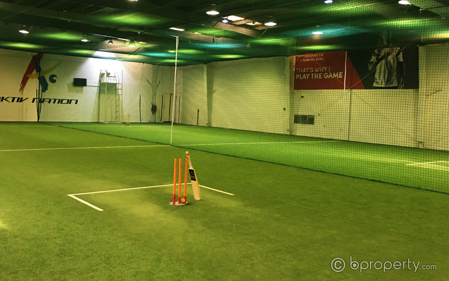 Picture of indoor cricket