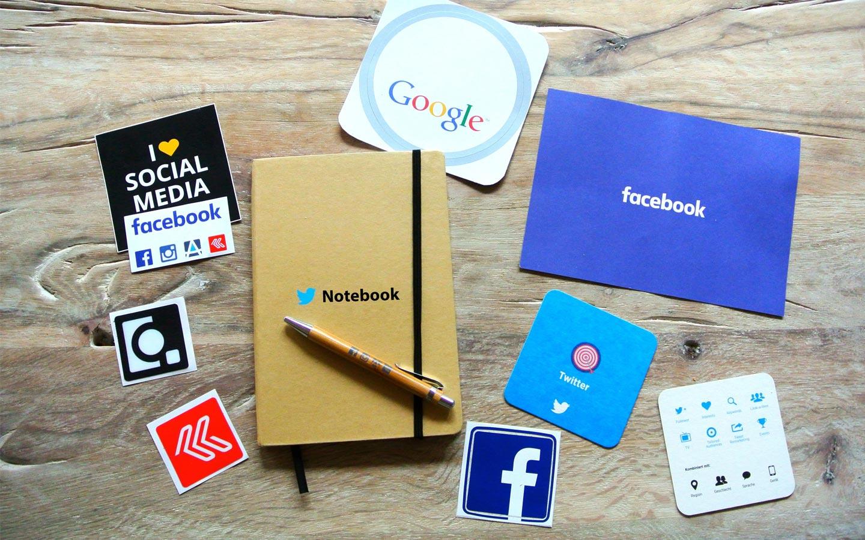 Online media icons