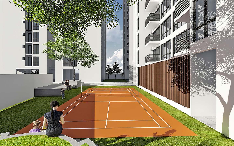 tennis court of the apartment community Dakhina