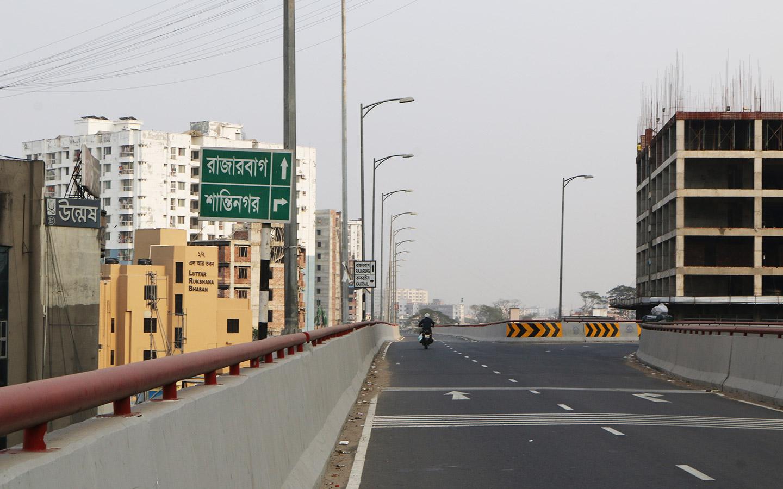 Flyover directing to Rajarbag and Shantinagar Location