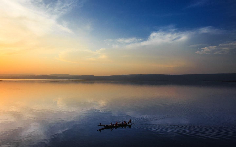 boat ride amid tangiuar haor