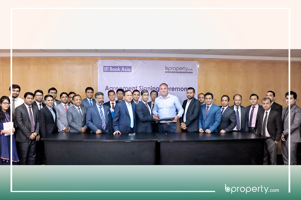 MOU signing between Bproperty and Bank Asia