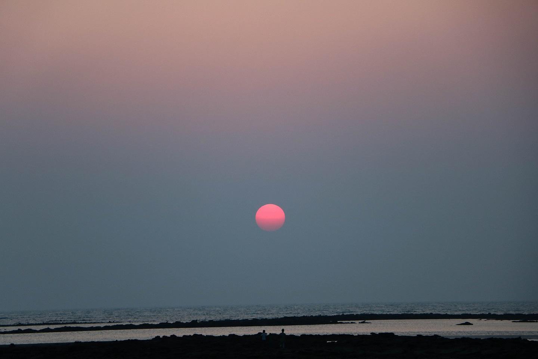 sunset at a sea beach