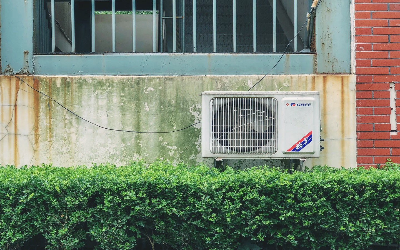 AC unit on the backyard
