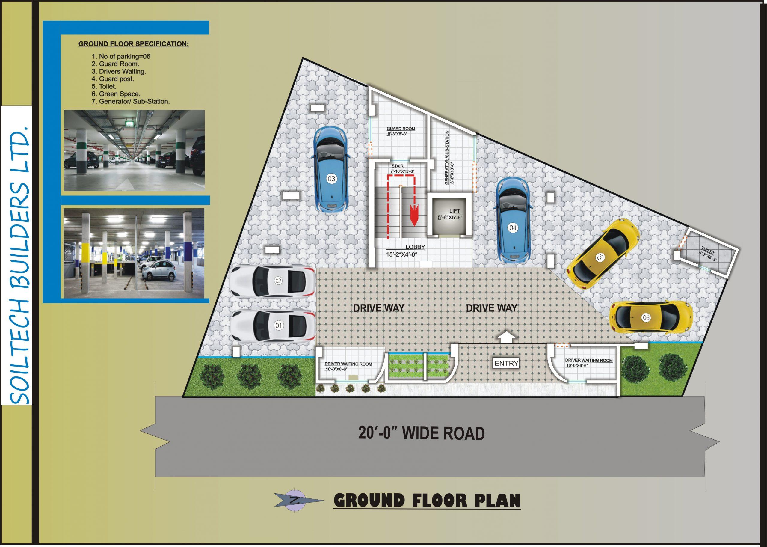 Soiltech Rahmania Garden Ground Floor Plan