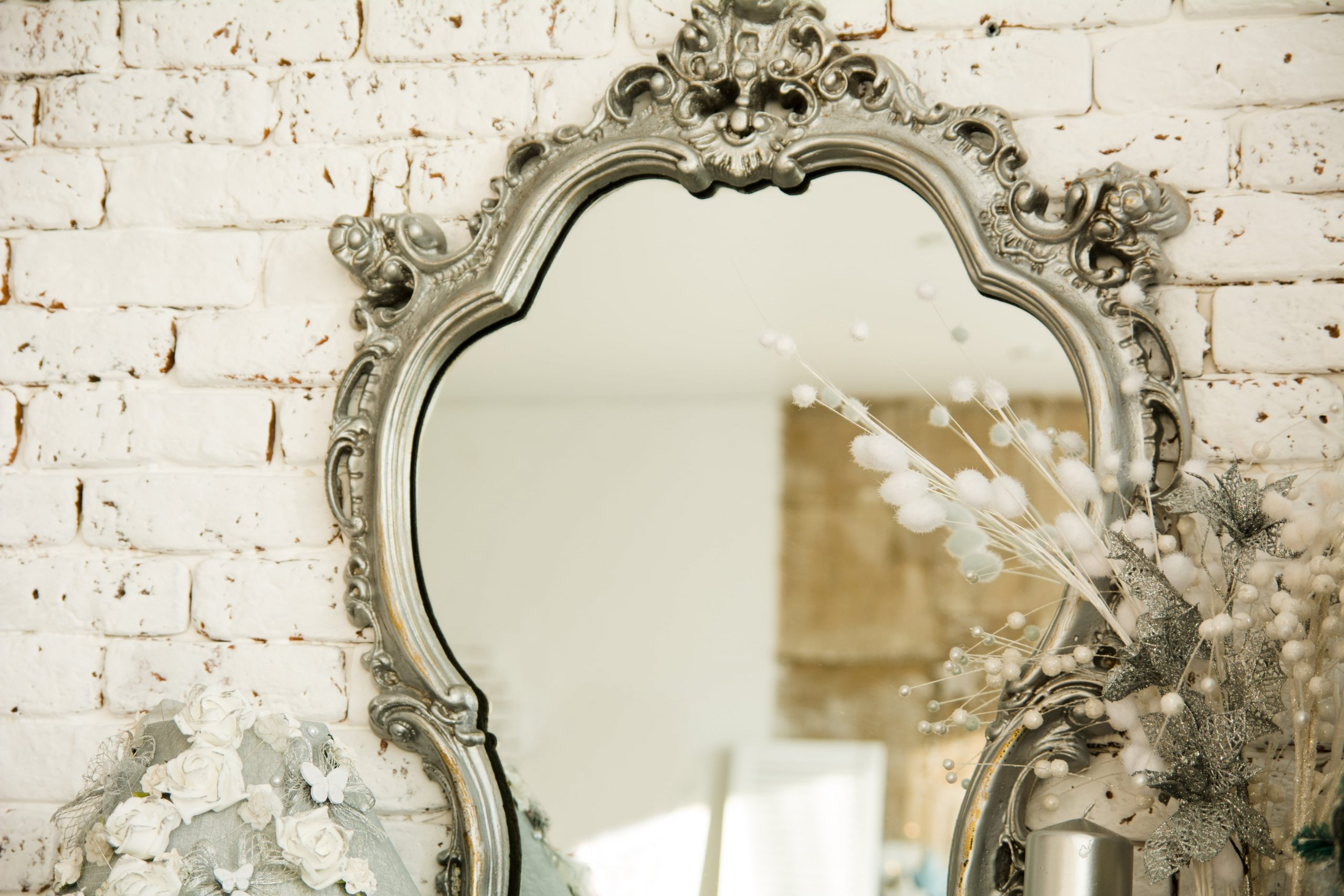Decorative Mirror in white background