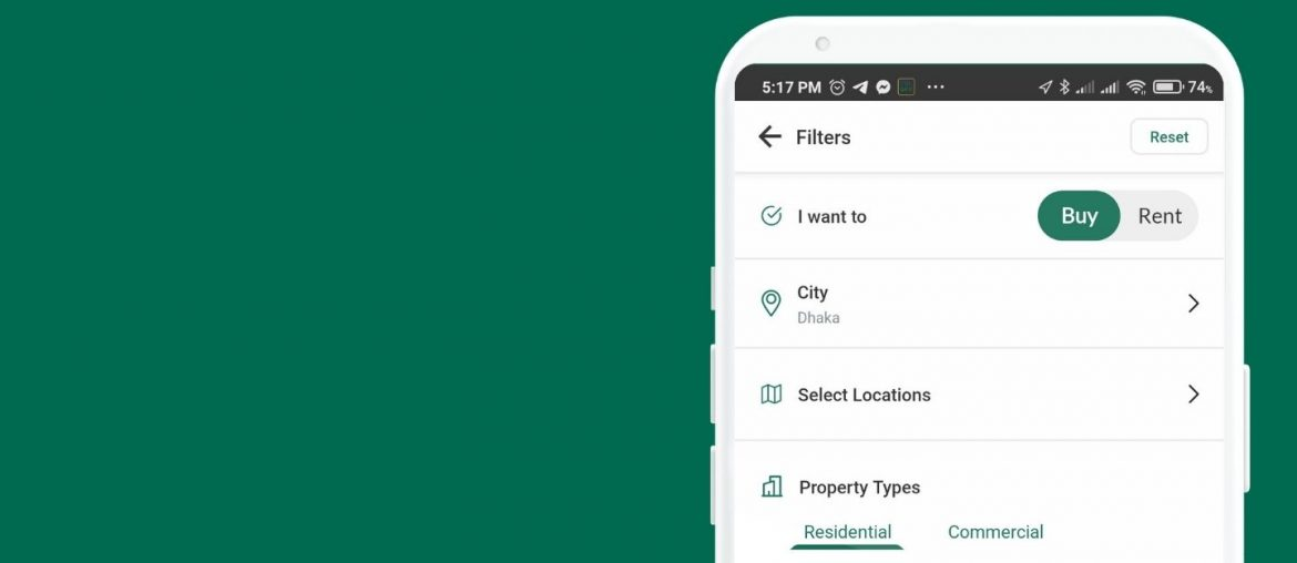 Bproperty App Search Filter