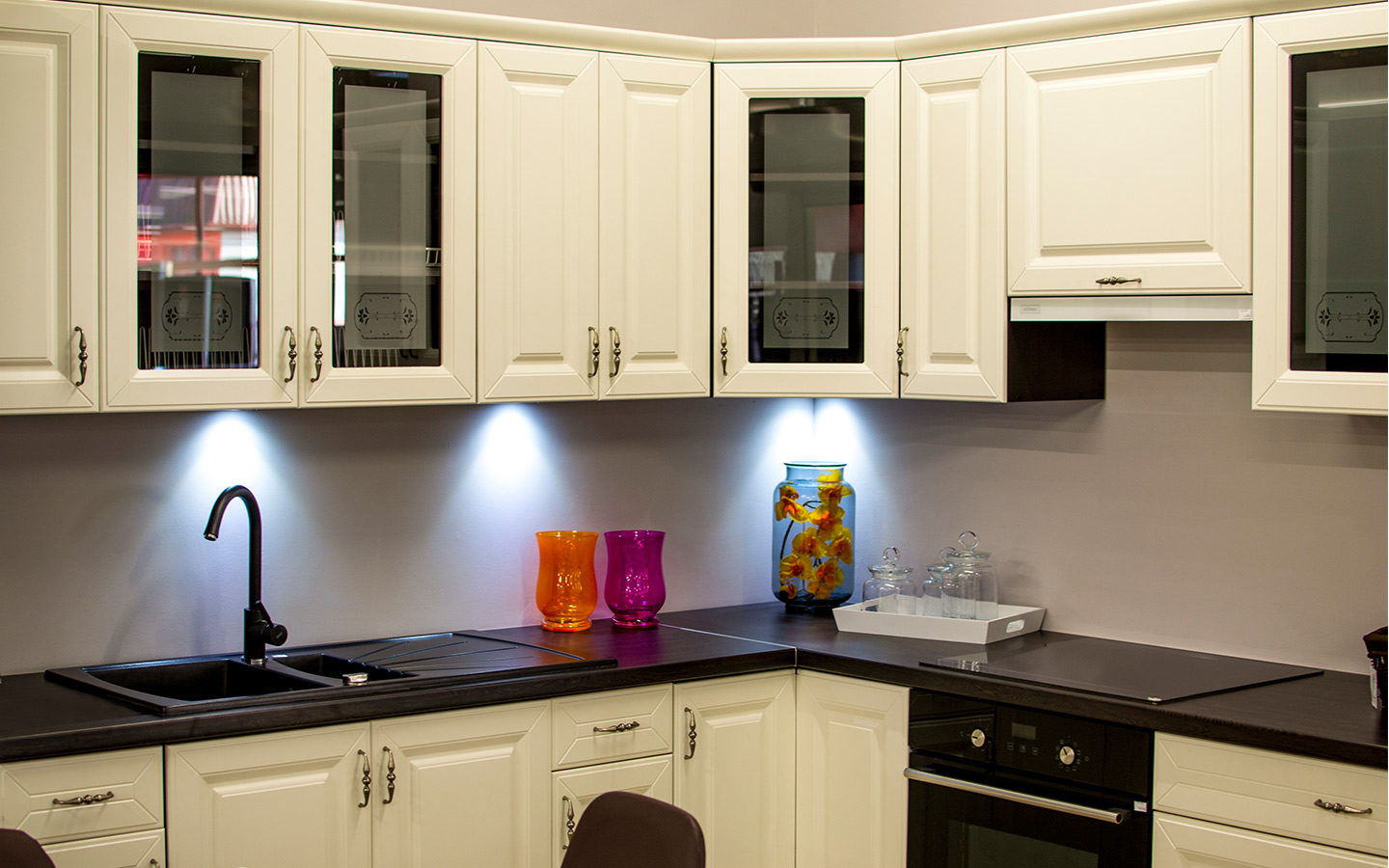 Picture of a kitchen cabinet in the house
