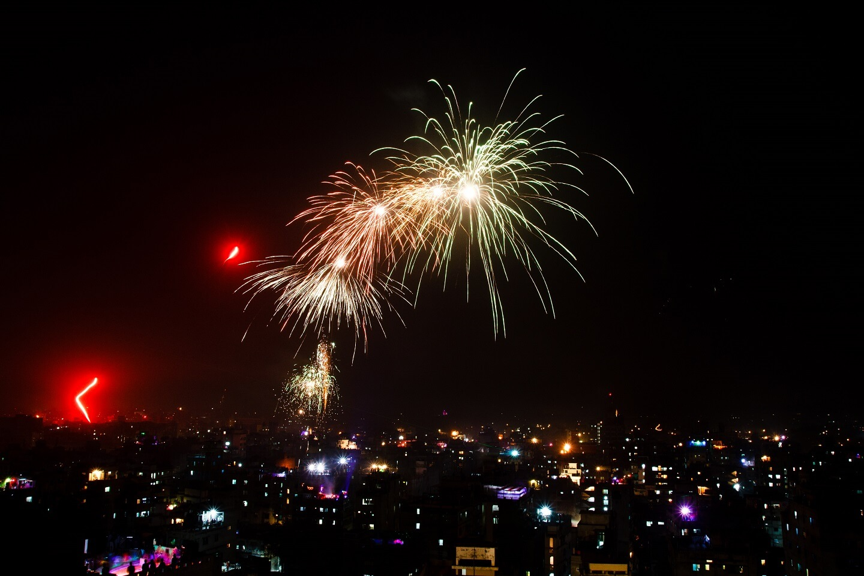 Dhaka city fireworks