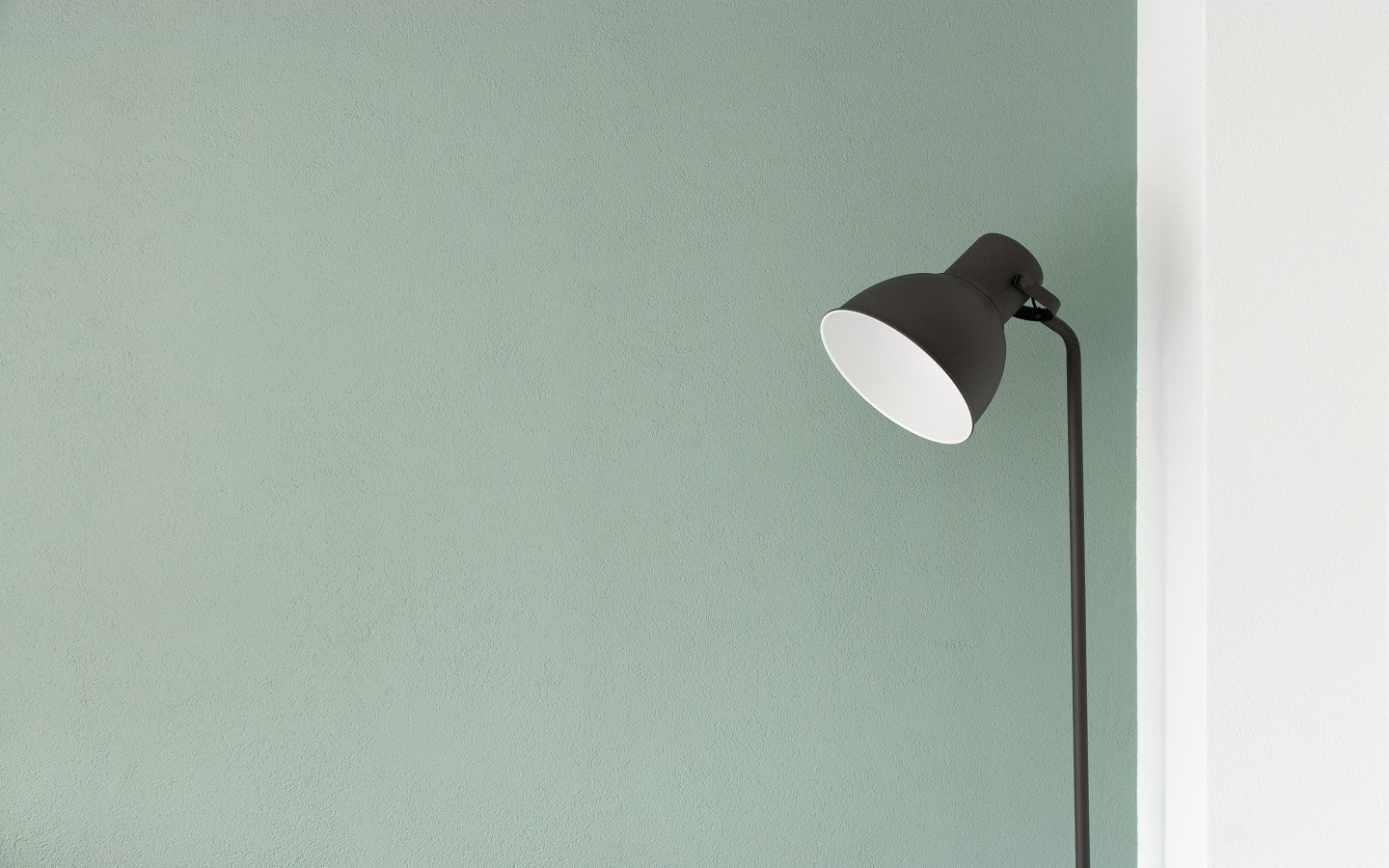 pale green colored wall