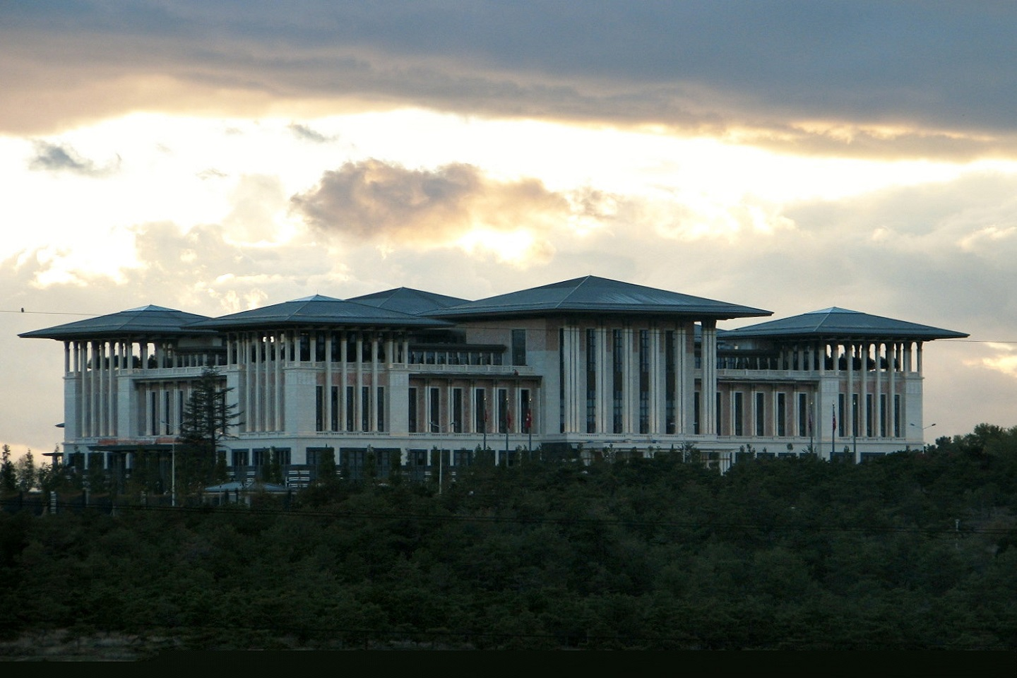 A panoramic view of The Presidential Complex