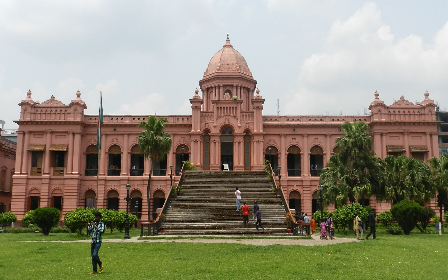 A century later, the 'pink palace' is one of the popular and historical buildings in Dhaka
