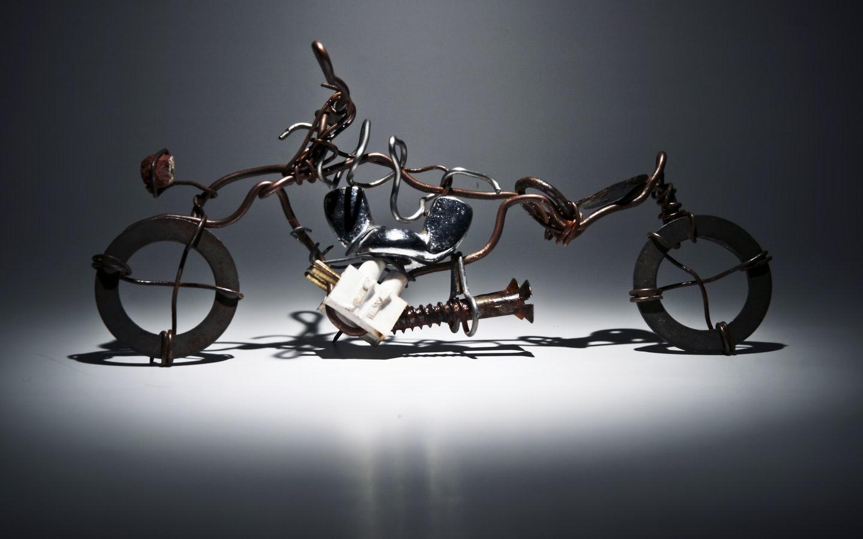 recycled bike piece