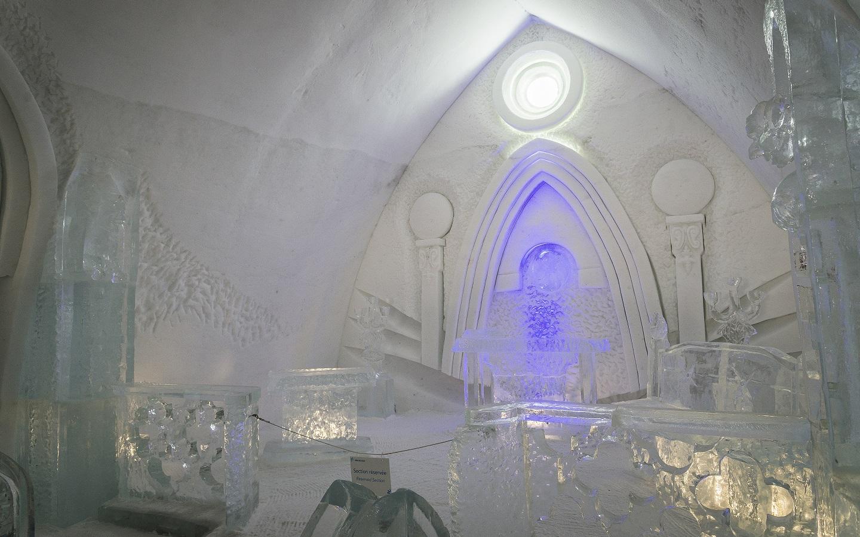 Interior of the ice hotel