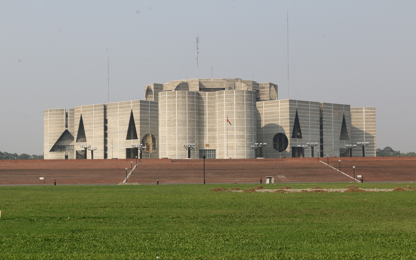 The Parliament House remains one of the best landmarks in Dhaka