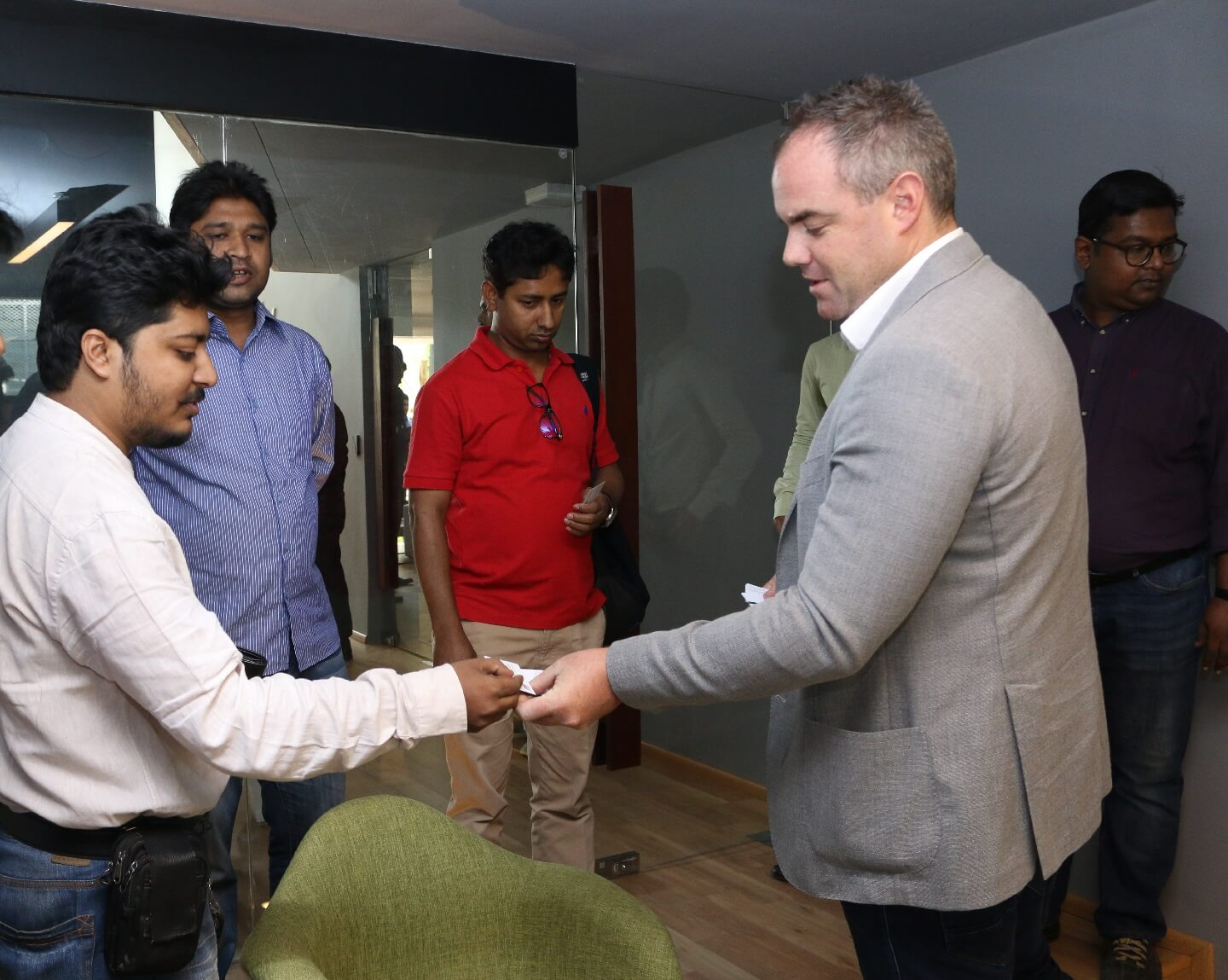 The CEO of Bproperty attending a curious client