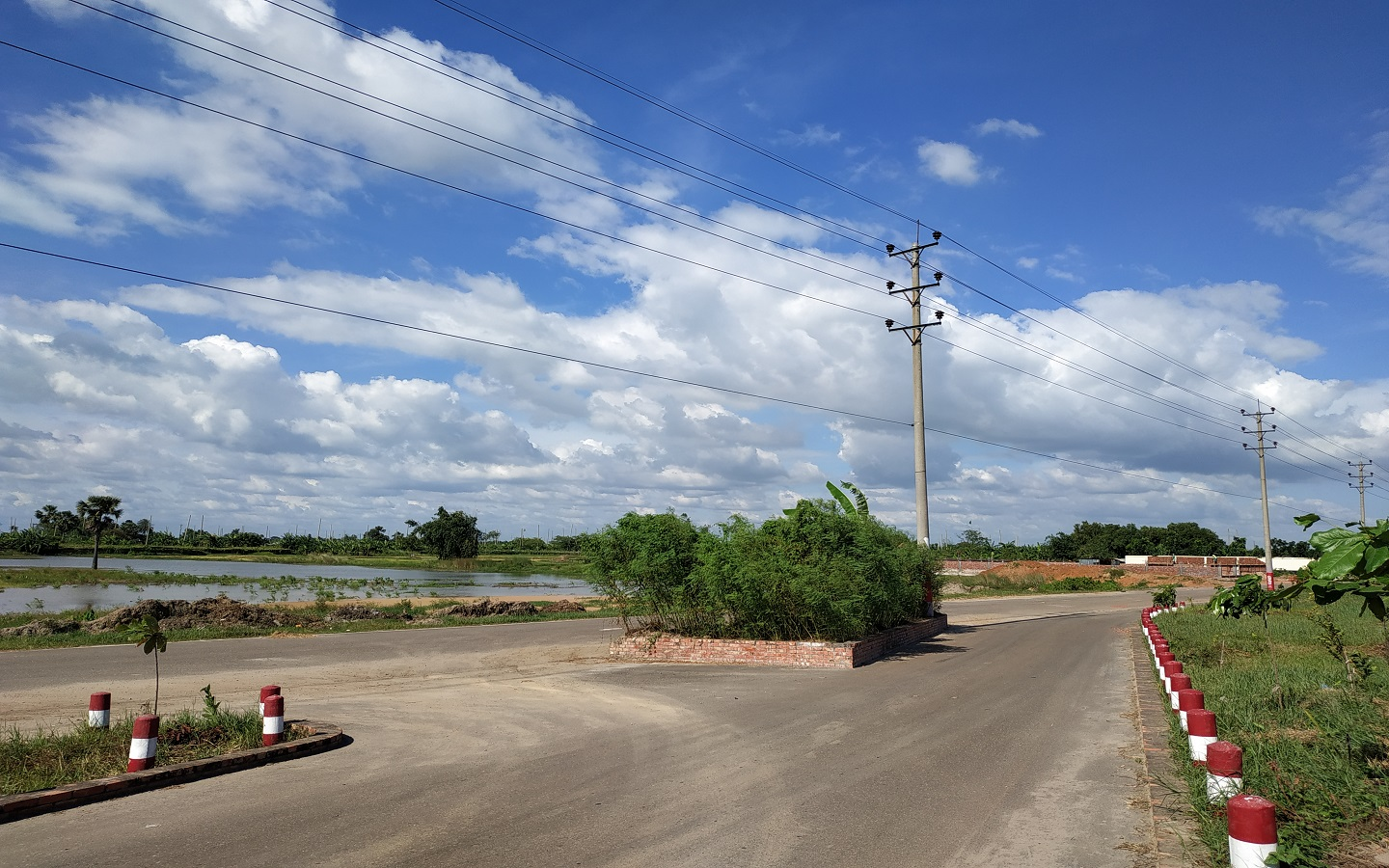 A road in Purbachal