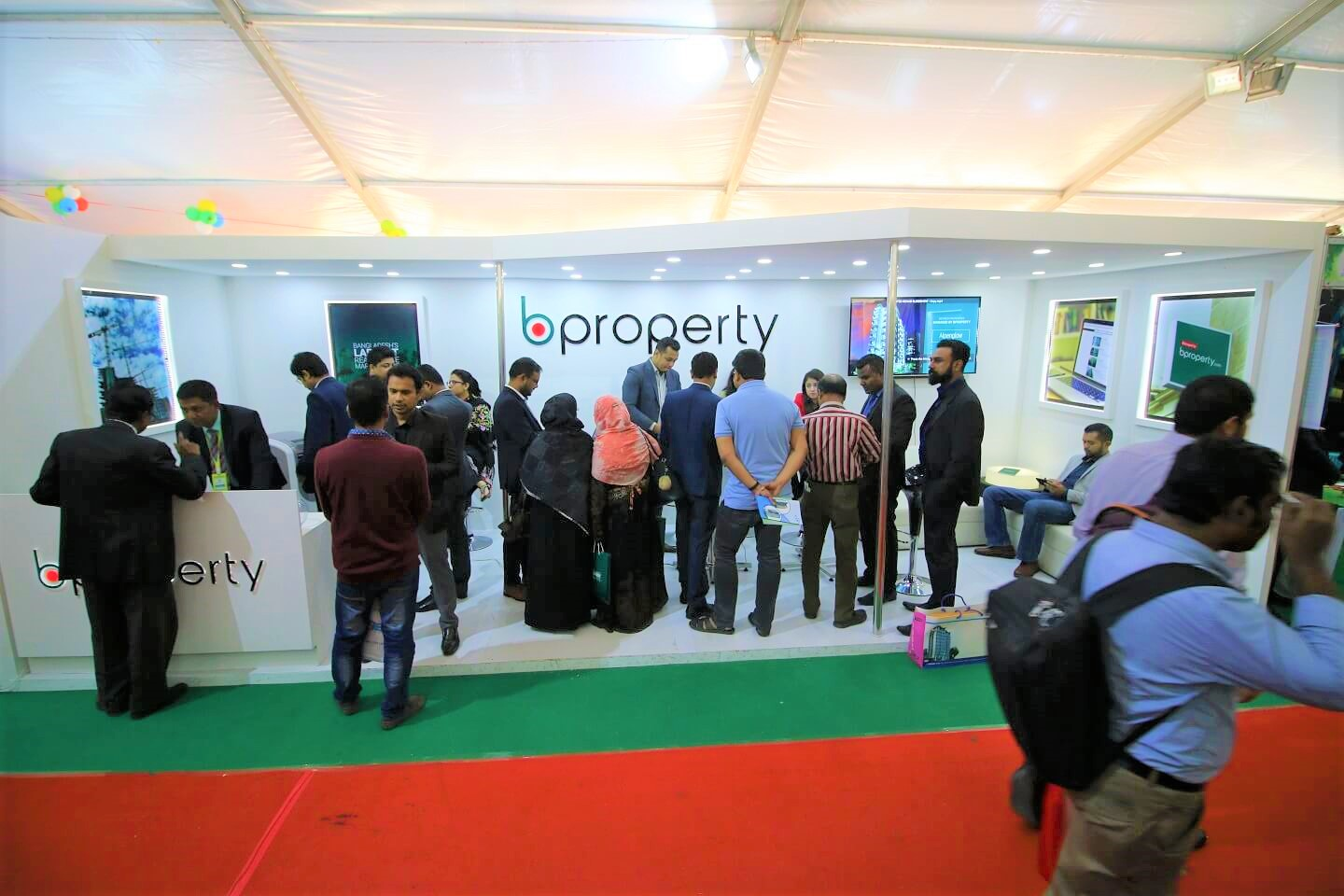 A busy moment serving valuable clients in Dhaka Rehab Fair