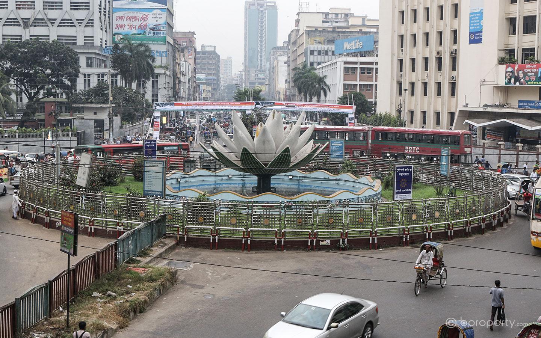 Exapsion of the city to Motijheel area