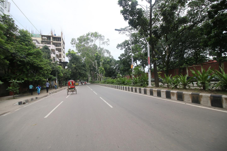 Rickshaw on a road