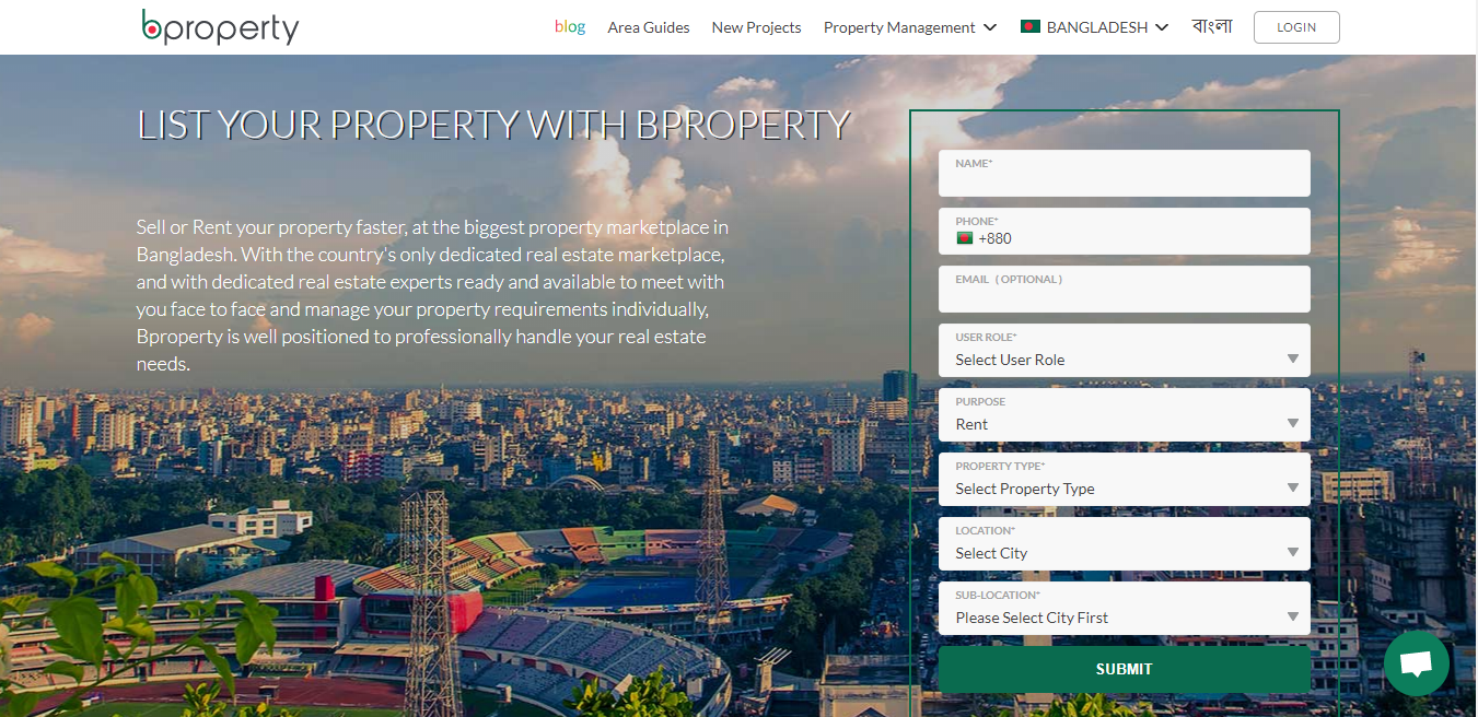 List your property page on Bproperty