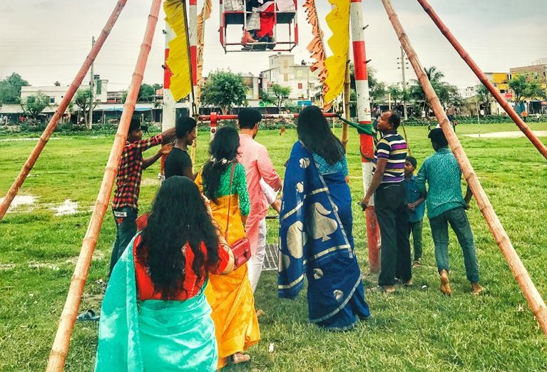 People at a fair in Khulna