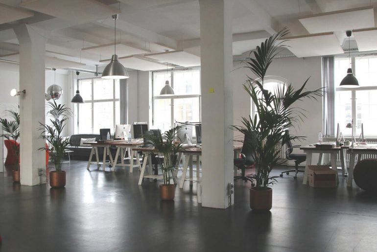 A well decorated commercial office space