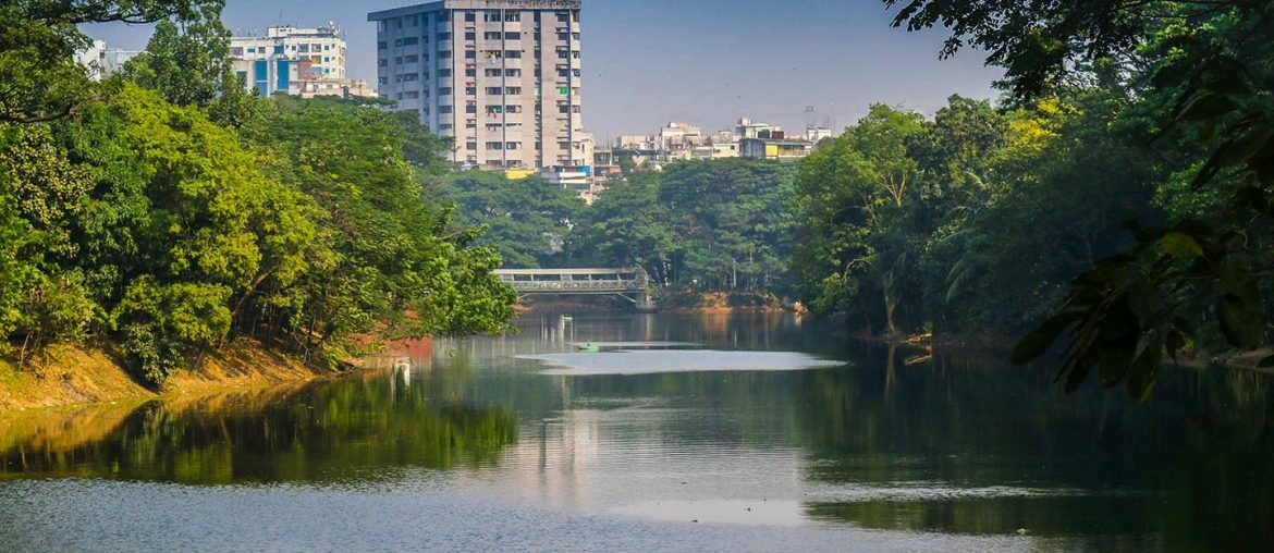 A nice lake view of a rental apartment in Dhaka