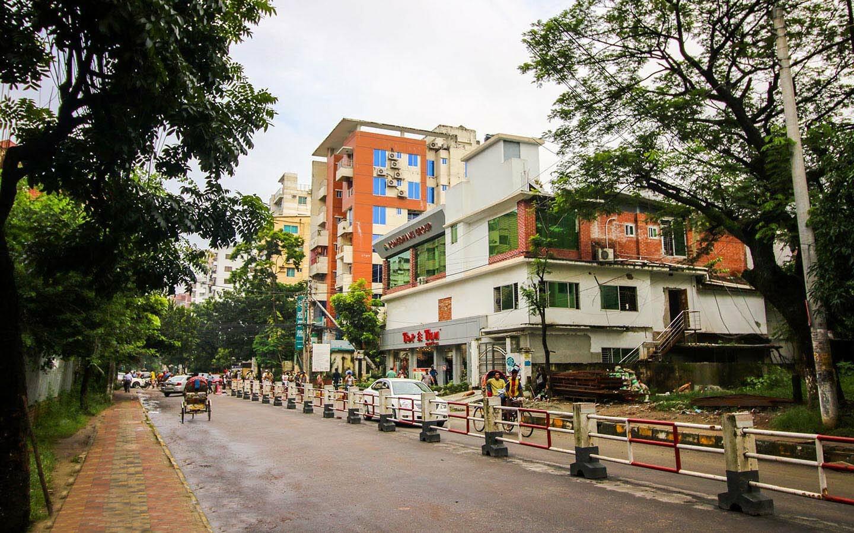 Road view from Bashundhara R/A