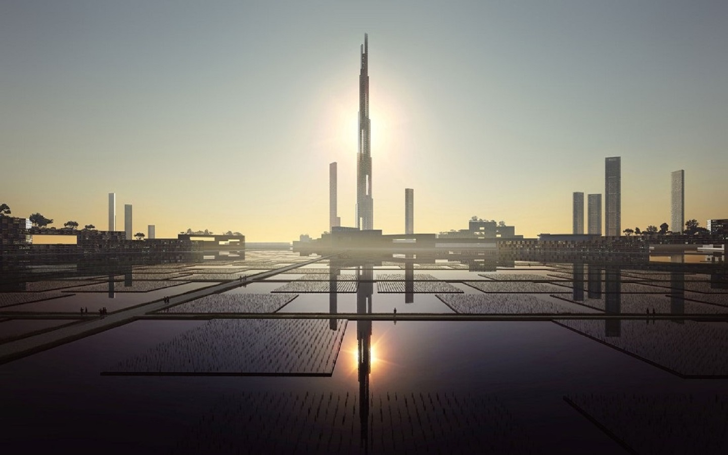 A rendition of Sky mile tower Tokyo