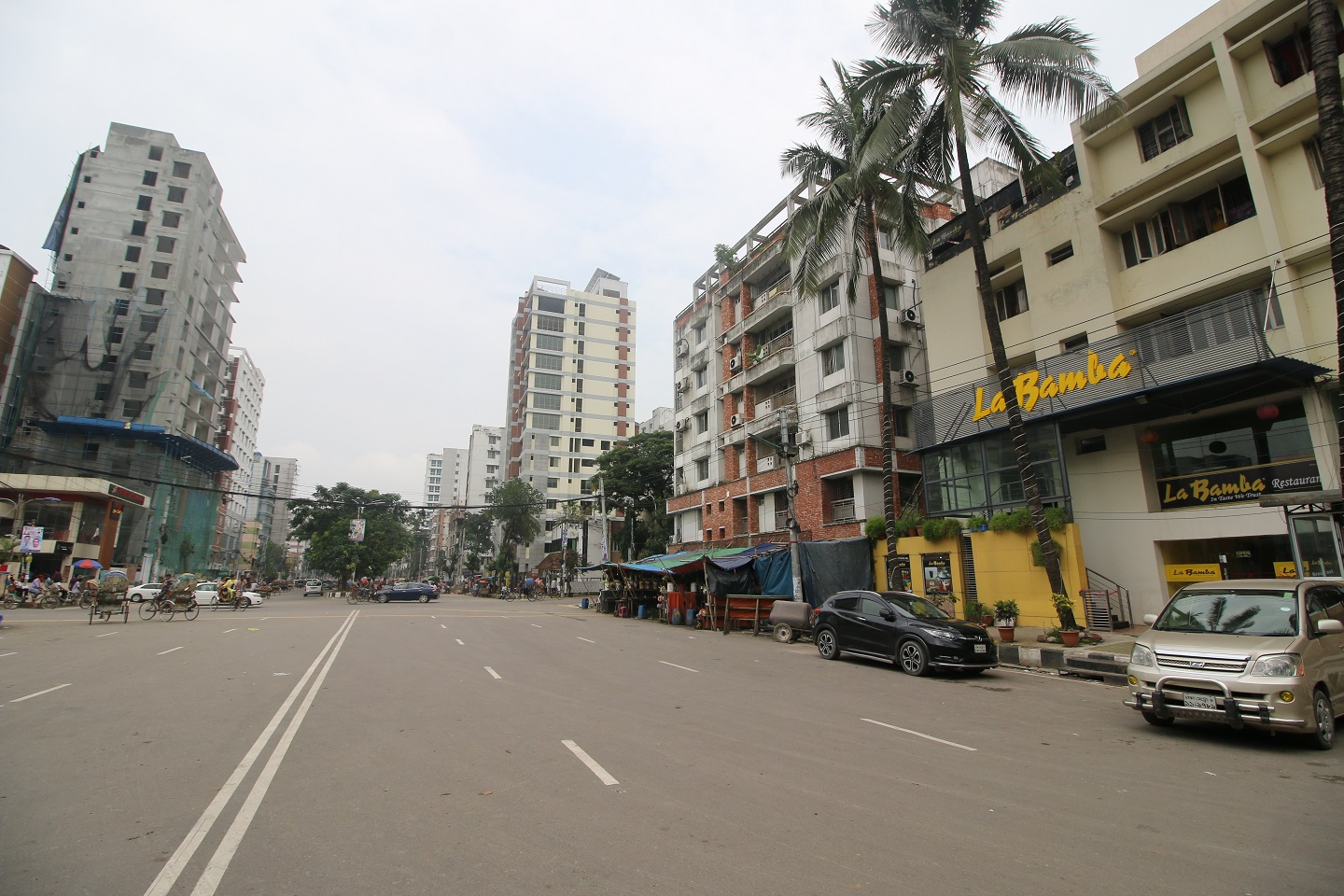 cars parked in an empty streets