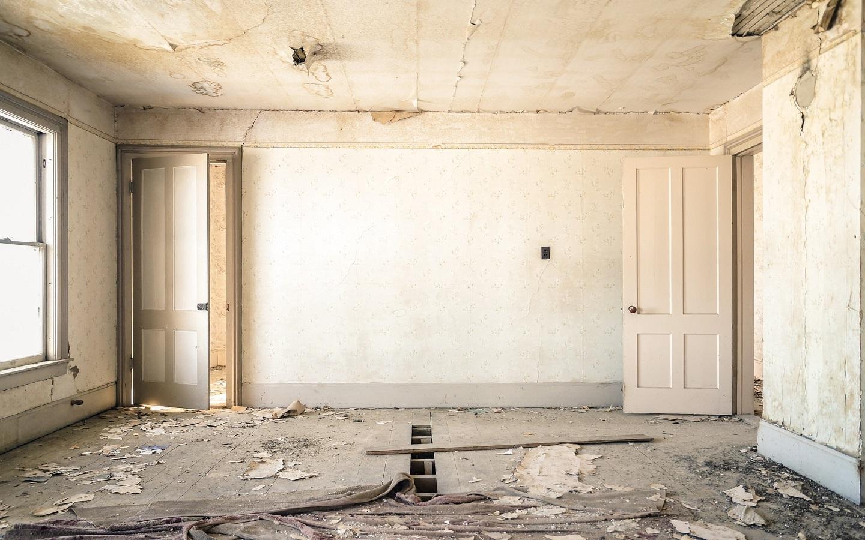a broken down room