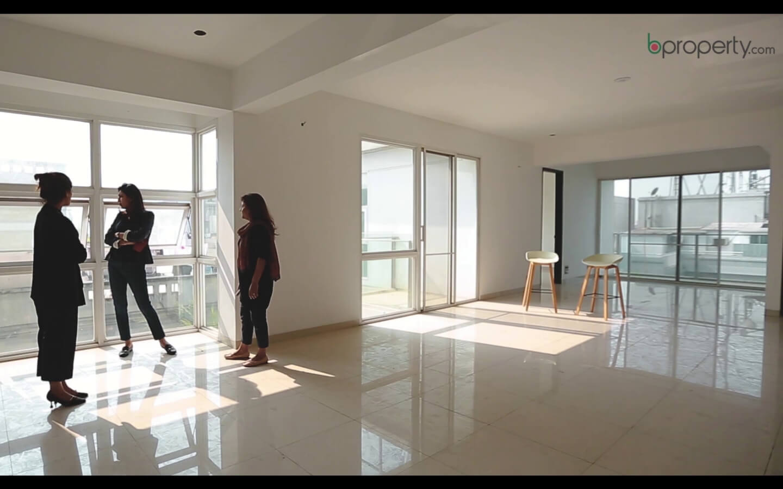 Neeman and Bushra of Chinton Architects standing