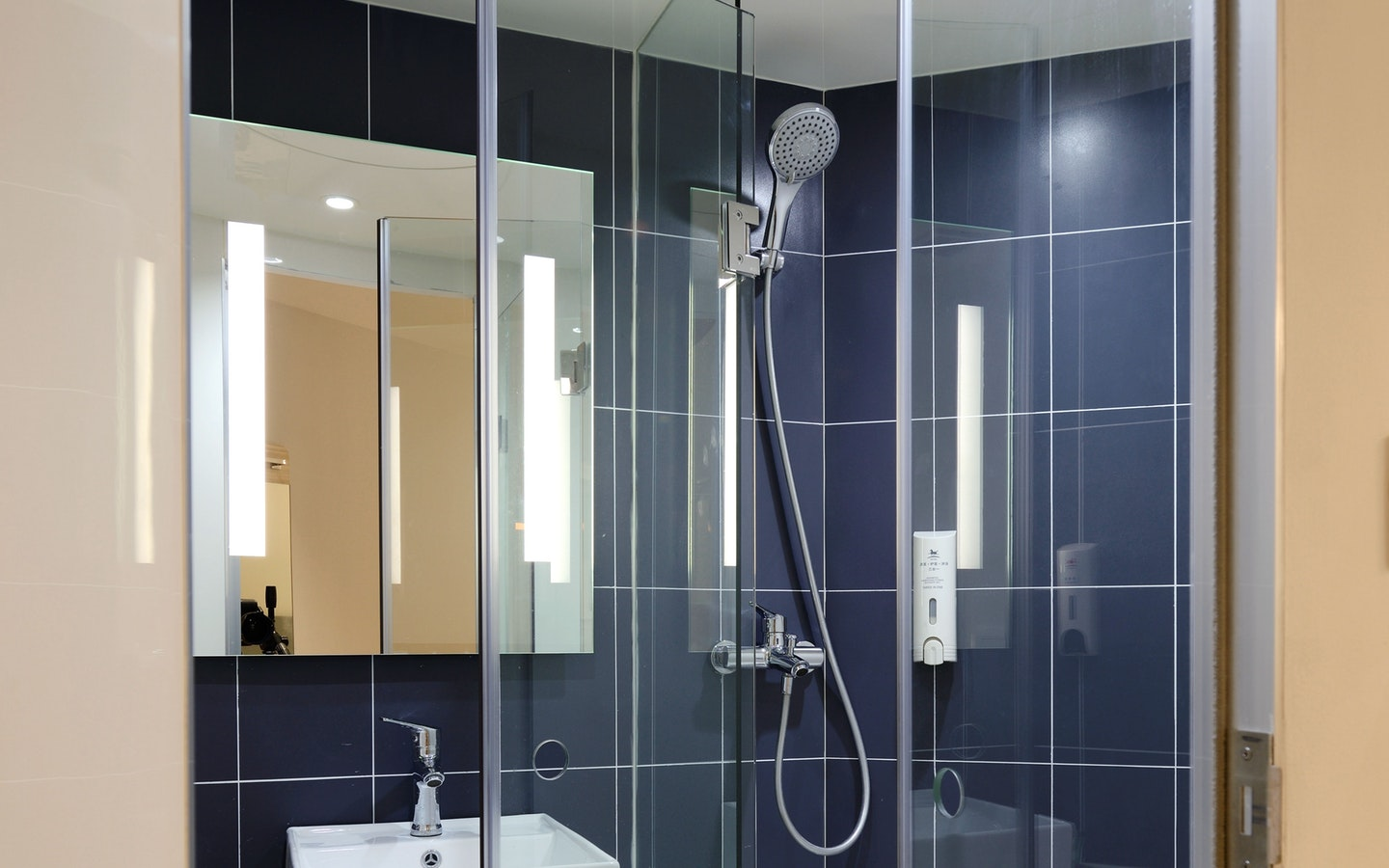 Having a glass panel is one of the best ways to make your bathroom look bigger