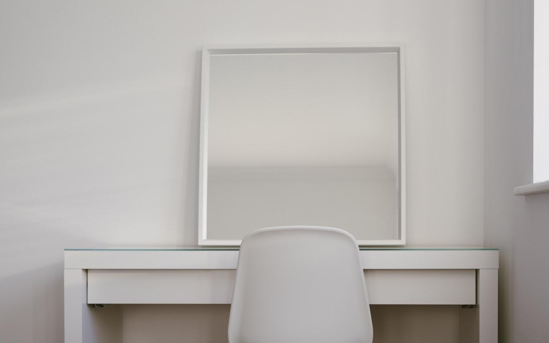 mirror on table