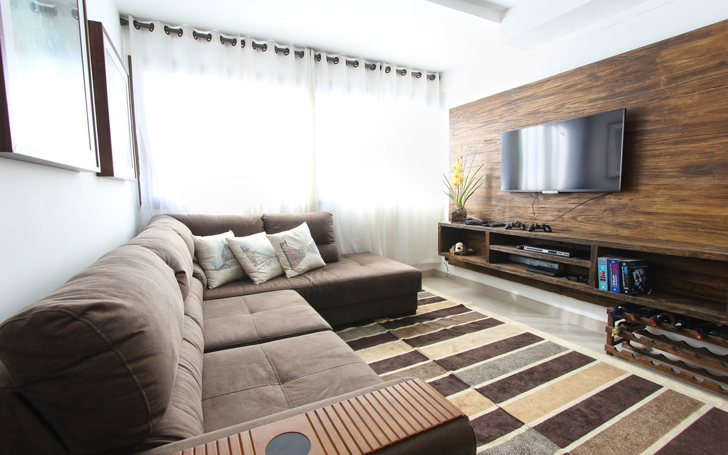 Un-mounted TV's are a safety risk as well as take up unnecessary space