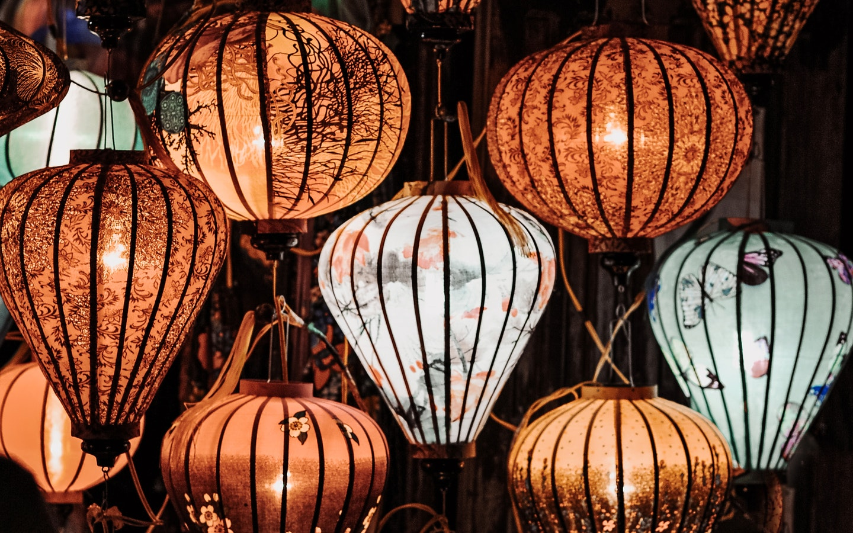 A bunch of lanterns