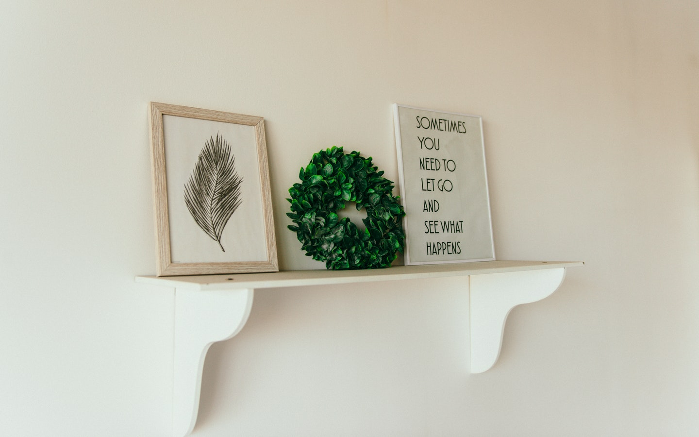 Hanging shelves save a lot of space