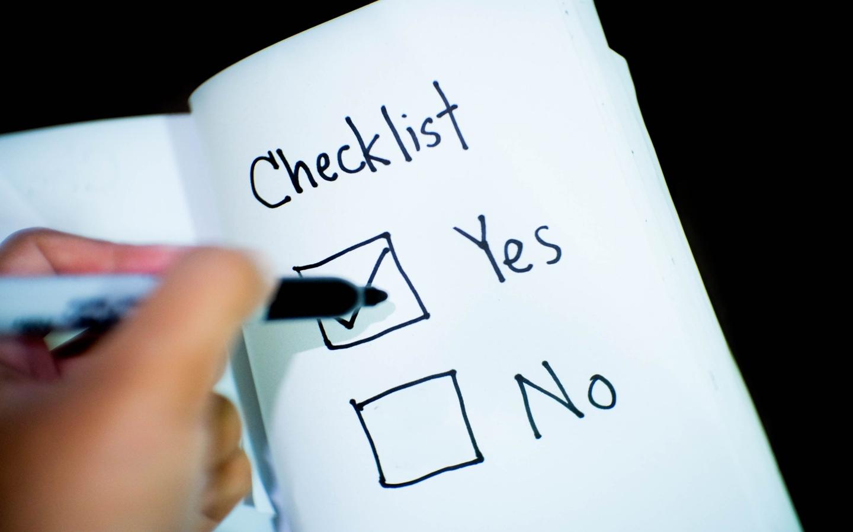 verify checklist