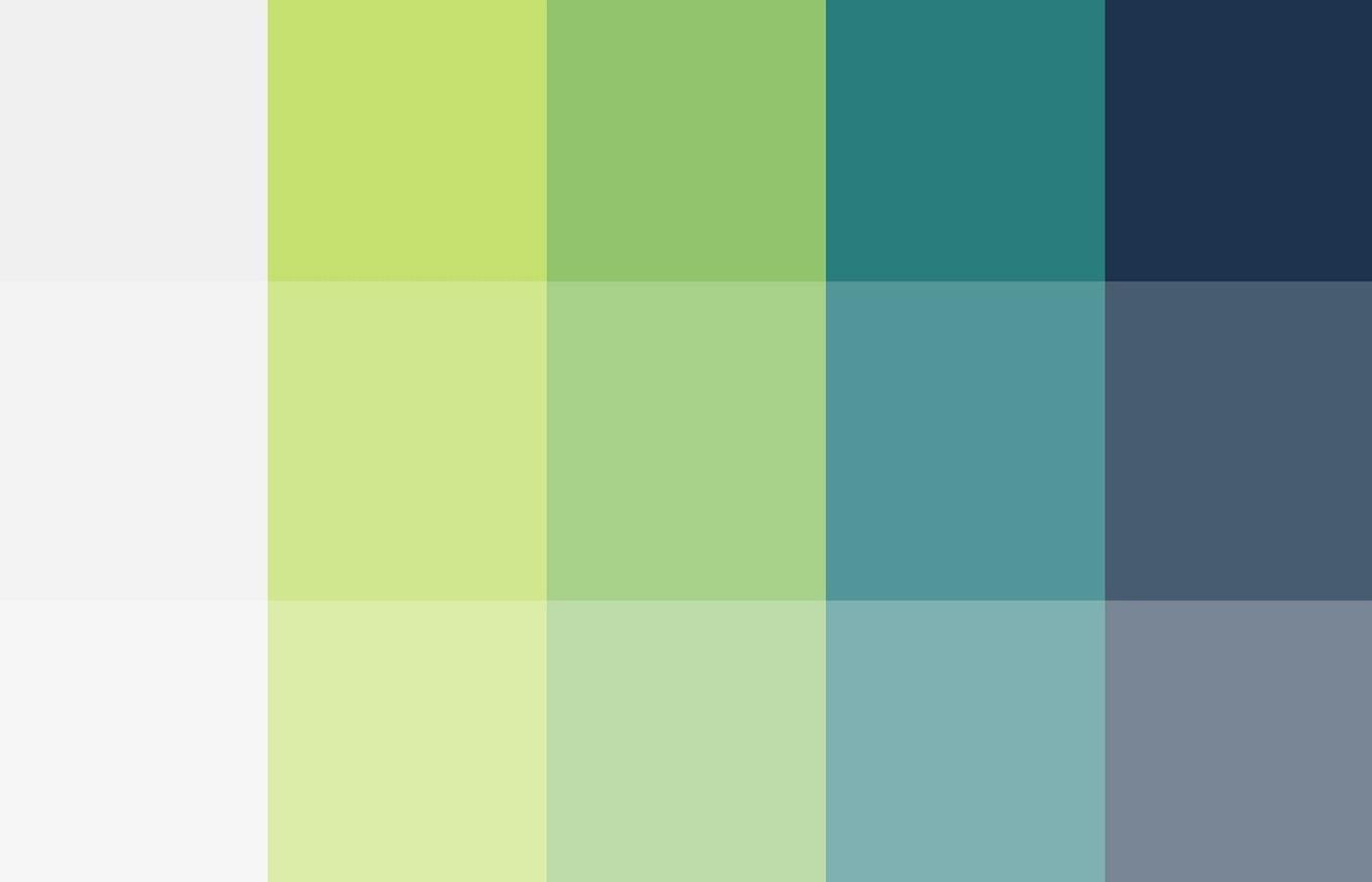 Pastel & Petrol Green