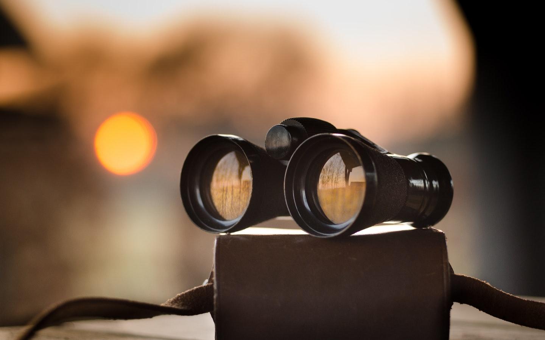 binocular on a table