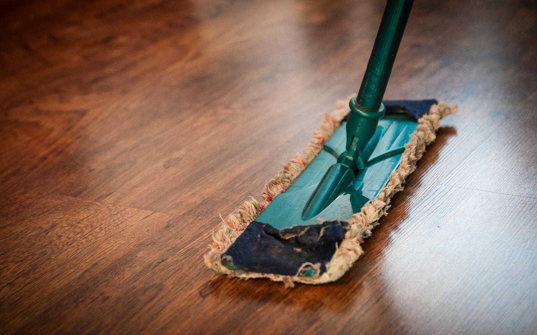 cleaning floor