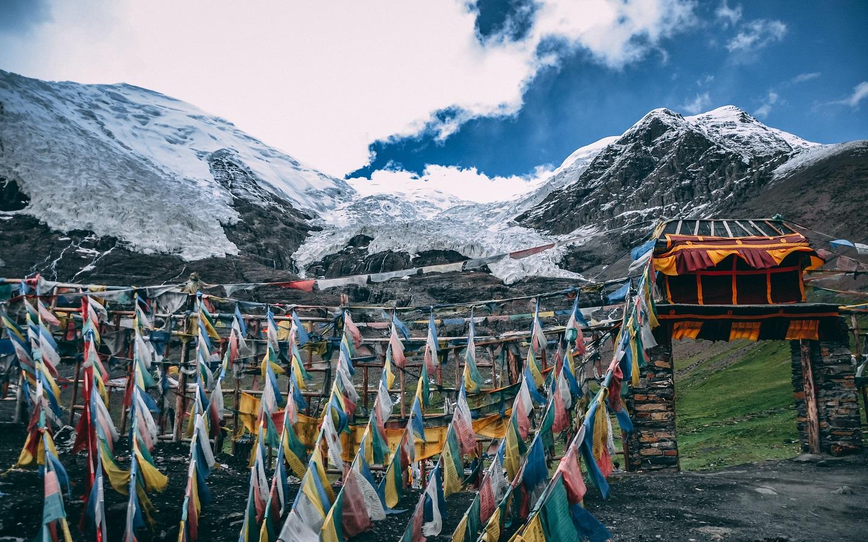 picturesque view of tibet