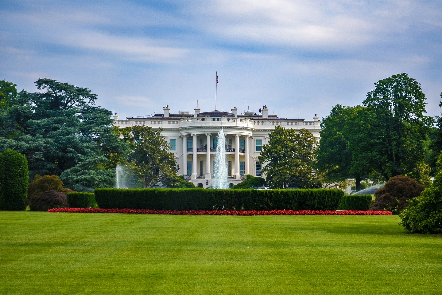 A panoramic view of the Whitehouse