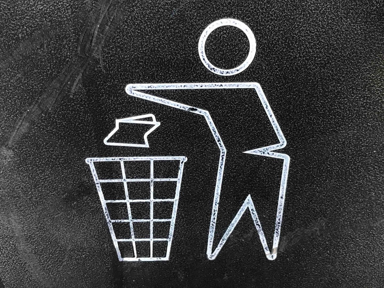 waste disposal signage
