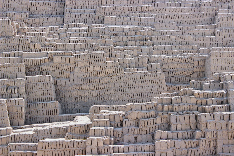 Natural eco friendly bricks stashed together