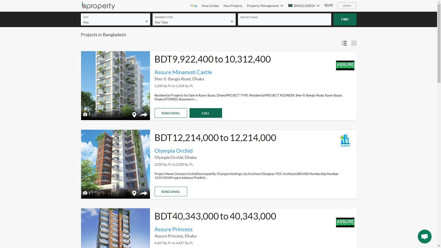 Bproperty developer listings