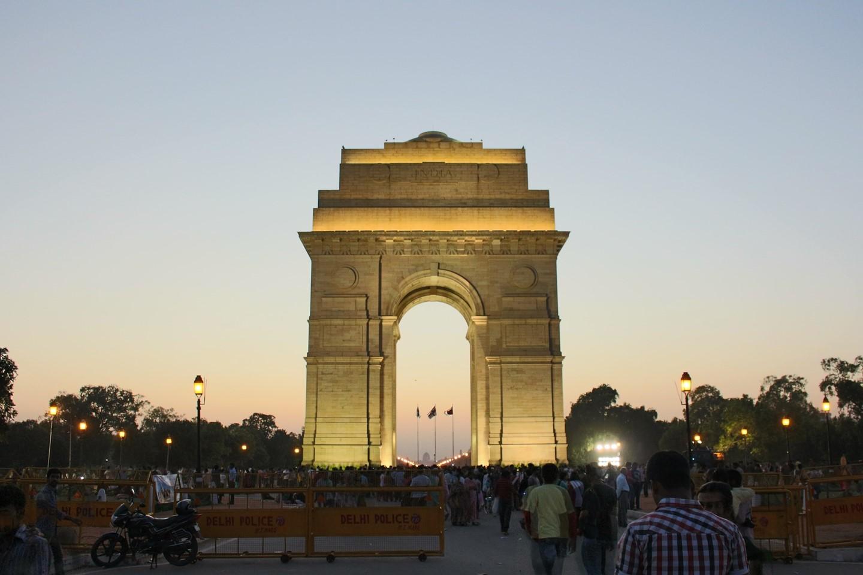 The India Gate in New Delhi